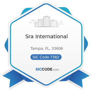 Sra International - SIC Code 7382 - Security Systems Services