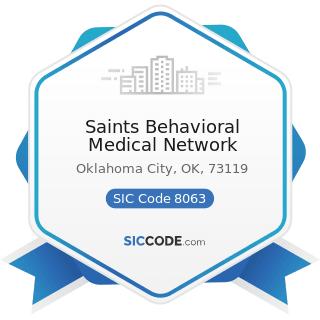 Saints Behavioral Medical Network - SIC Code 8063 - Psychiatric Hospitals
