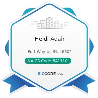 Heidi Adair - NAICS Code 541110 - Offices of Lawyers
