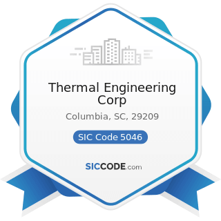 Thermal Engineering Corp - SIC Code 5046 - Commercial Equipment, Not Elsewhere Classified