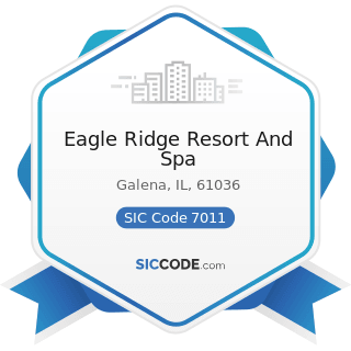 Eagle Ridge Resort And Spa - SIC Code 7011 - Hotels and Motels