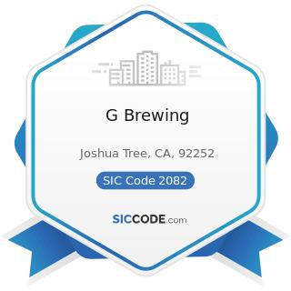 G Brewing - SIC Code 2082 - Malt Beverages