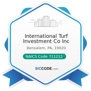 International Turf Investment Co Inc - NAICS Code 711212 - Racetracks