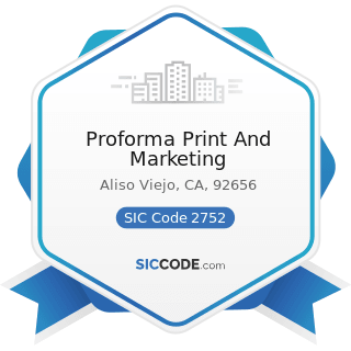 Proforma Print And Marketing - SIC Code 2752 - Commercial Printing, Lithographic