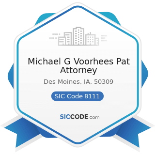 Michael G Voorhees Pat Attorney - SIC Code 8111 - Legal Services