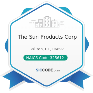 The Sun Products Corp - NAICS Code 325612 - Polish and Other Sanitation Good Manufacturing