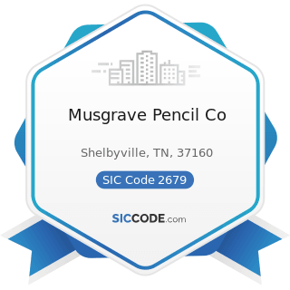 Musgrave Pencil Co - SIC Code 2679 - Converted Paper and Paperboard Products, Not Elsewhere...