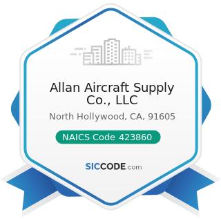 Allan Aircraft Supply Co., LLC - NAICS Code 423860 - Transportation Equipment and Supplies...