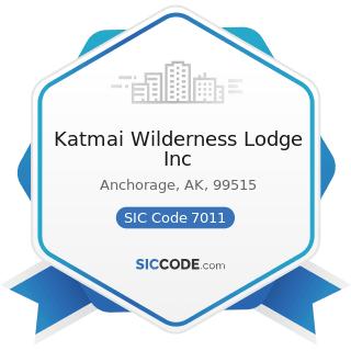 Katmai Wilderness Lodge Inc - SIC Code 7011 - Hotels and Motels
