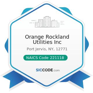 Orange Rockland Utilities Inc - NAICS Code 221118 - Other Electric Power Generation