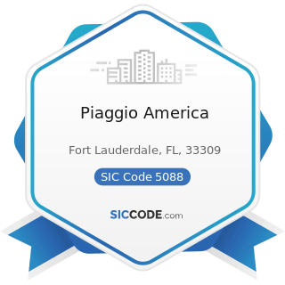 Piaggio America - SIC Code 5088 - Transportation Equipment and Supplies, except Motor Vehicles