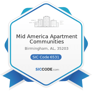 Mid America Apartment Communities - SIC Code 6531 - Real Estate Agents and Managers