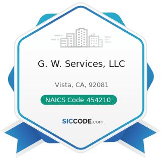 G. W. Services, LLC - NAICS Code 454210 - Vending Machine Operators