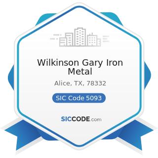 Wilkinson Gary Iron Metal - SIC Code 5093 - Scrap and Waste Materials