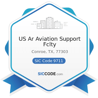 US Ar Aviation Support Fclty - SIC Code 9711 - National Security