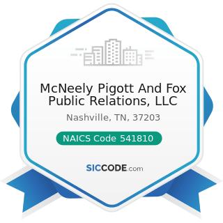 McNeely Pigott And Fox Public Relations, LLC - NAICS Code 541810 - Advertising Agencies