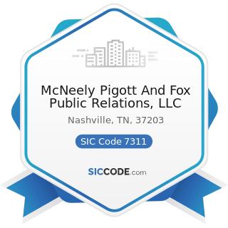 McNeely Pigott And Fox Public Relations, LLC - SIC Code 7311 - Advertising Agencies
