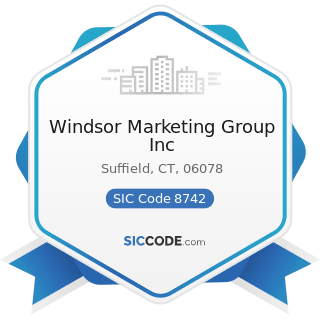 Windsor Marketing Group Inc - SIC Code 8742 - Management Consulting Services