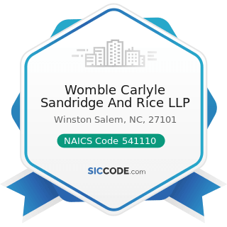 Womble Carlyle Sandridge And Rice LLP - NAICS Code 541110 - Offices of Lawyers