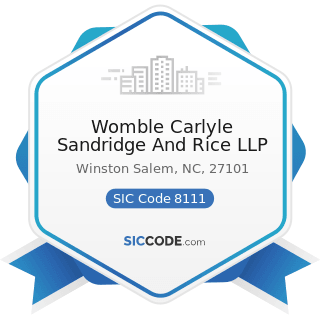 Womble Carlyle Sandridge And Rice LLP - SIC Code 8111 - Legal Services