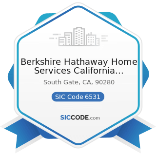 Berkshire Hathaway Home Services California Properties C - SIC Code 6531 - Real Estate Agents...