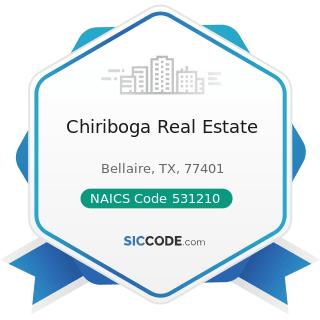 Chiriboga Real Estate - NAICS Code 531210 - Offices of Real Estate Agents and Brokers