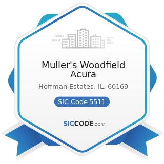 Muller's Woodfield Acura - SIC Code 5511 - Motor Vehicle Dealers (New and Used)