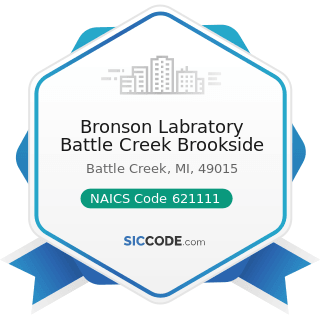 Bronson Labratory Battle Creek Brookside - NAICS Code 621111 - Offices of Physicians (except...