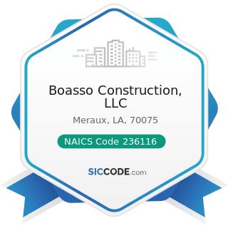 Boasso Construction, LLC - NAICS Code 236116 - New Multifamily Housing Construction (except...