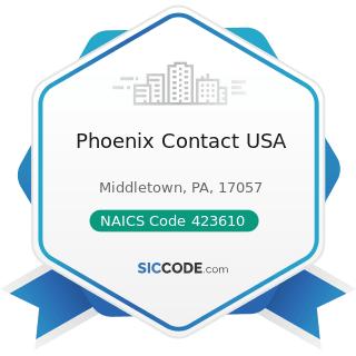 Phoenix Contact USA - NAICS Code 423610 - Electrical Apparatus and Equipment, Wiring Supplies,...