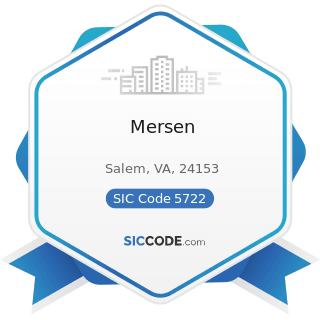 Mersen - SIC Code 5722 - Household Appliance Stores