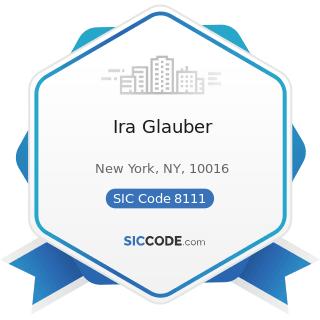 Ira Glauber - SIC Code 8111 - Legal Services