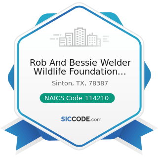 Rob And Bessie Welder Wildlife Foundation Library - NAICS Code 114210 - Hunting and Trapping