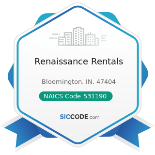 Renaissance Rentals - NAICS Code 531190 - Lessors of Other Real Estate Property