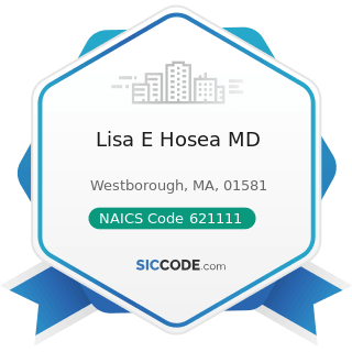 Lisa E Hosea MD - NAICS Code 621111 - Offices of Physicians (except Mental Health Specialists)