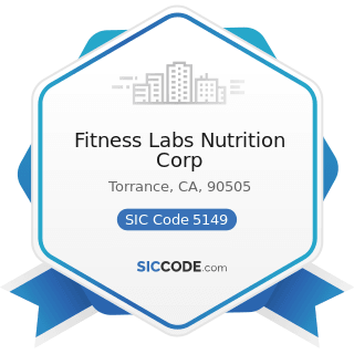 Fitness Labs Nutrition Corp - SIC Code 5149 - Groceries and Related Products, Not Elsewhere...