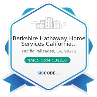 Berkshire Hathaway Home Services California Property - NAICS Code 531210 - Offices of Real...
