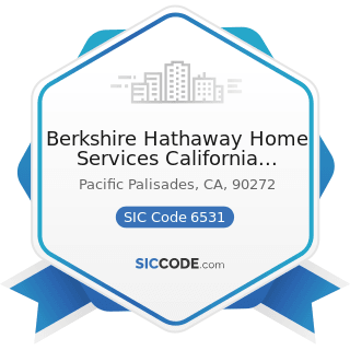 Berkshire Hathaway Home Services California Property - SIC Code 6531 - Real Estate Agents and...