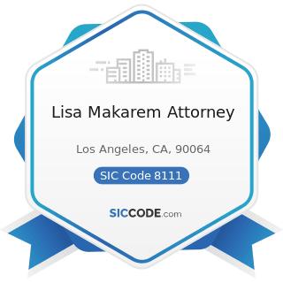 Lisa Makarem Attorney - SIC Code 8111 - Legal Services
