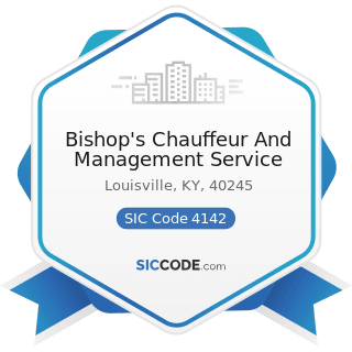 Bishop's Chauffeur And Management Service - SIC Code 4142 - Bus Charter Service, except Local
