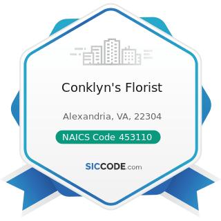 Conklyn's Florist - NAICS Code 453110 - Florists