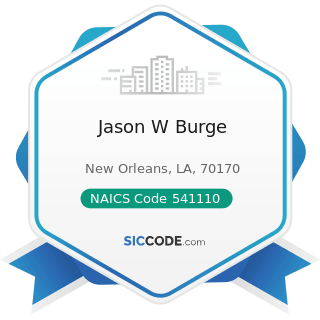 Jason W Burge - NAICS Code 541110 - Offices of Lawyers
