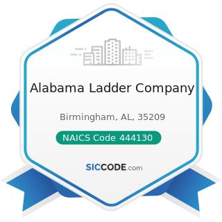 Alabama Ladder Company - NAICS Code 444130 - Hardware Stores