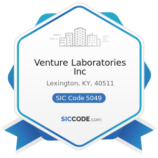 Venture Laboratories Inc - SIC Code 5049 - Professional Equipment and Supplies, Not Elsewhere...