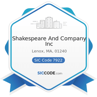 Shakespeare And Company Inc - SIC Code 7922 - Theatrical Producers (except Motion Picture) and...