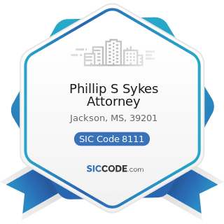 Phillip S Sykes Attorney - SIC Code 8111 - Legal Services