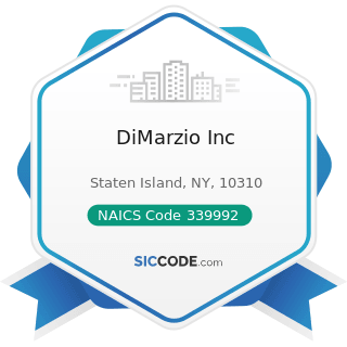 DiMarzio Inc - NAICS Code 339992 - Musical Instrument Manufacturing