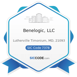 Benelogic, LLC - SIC Code 7378 - Computer Maintenance and Repair