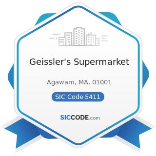 Geissler's Supermarket - SIC Code 5411 - Grocery Stores