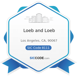 Loeb and Loeb - SIC Code 8111 - Legal Services